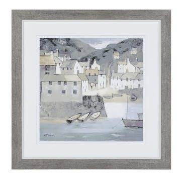 Bay Side Framed Print - 46 x 46cm