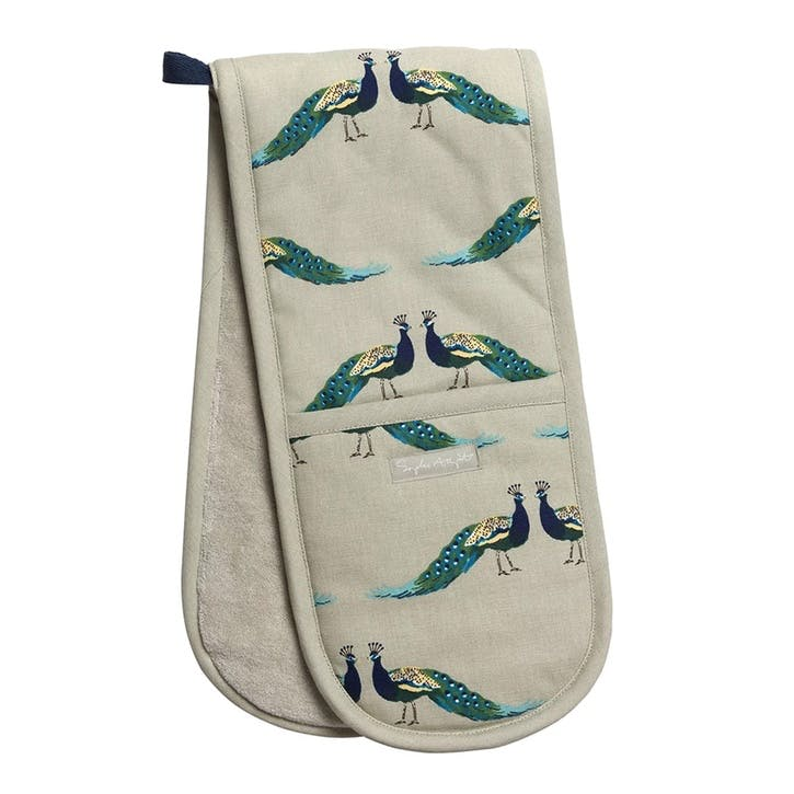 'Peacocks' Double Oven Glove