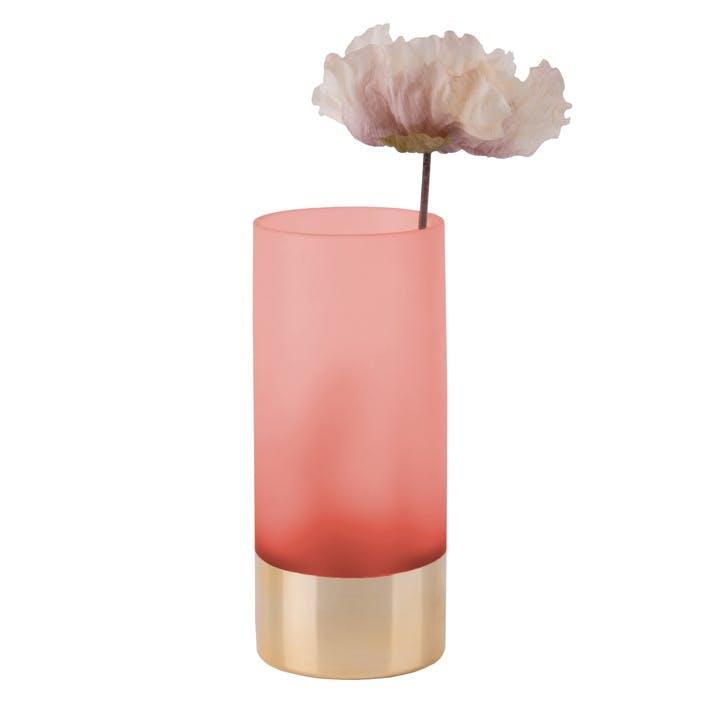 Gold Glamour Vase, Pink