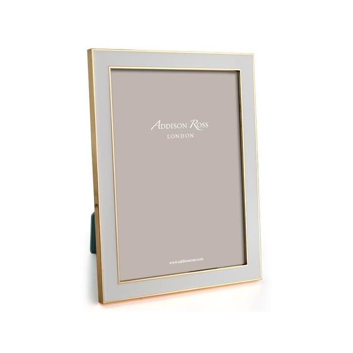 "15mm Gold and Enamel Photo Frame - 5"" x 7""; Chiffon"