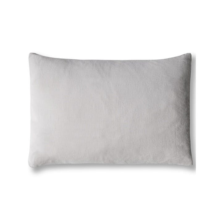 Mini Linen Cushion Cover, Dove Grey