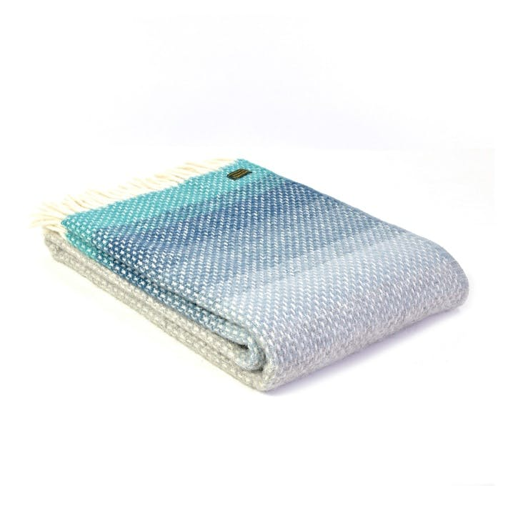 Ombre Throw, Seaside Blue