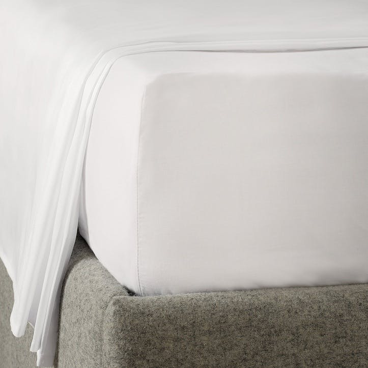 Savoy Deep Fitted Sheet, Double, White