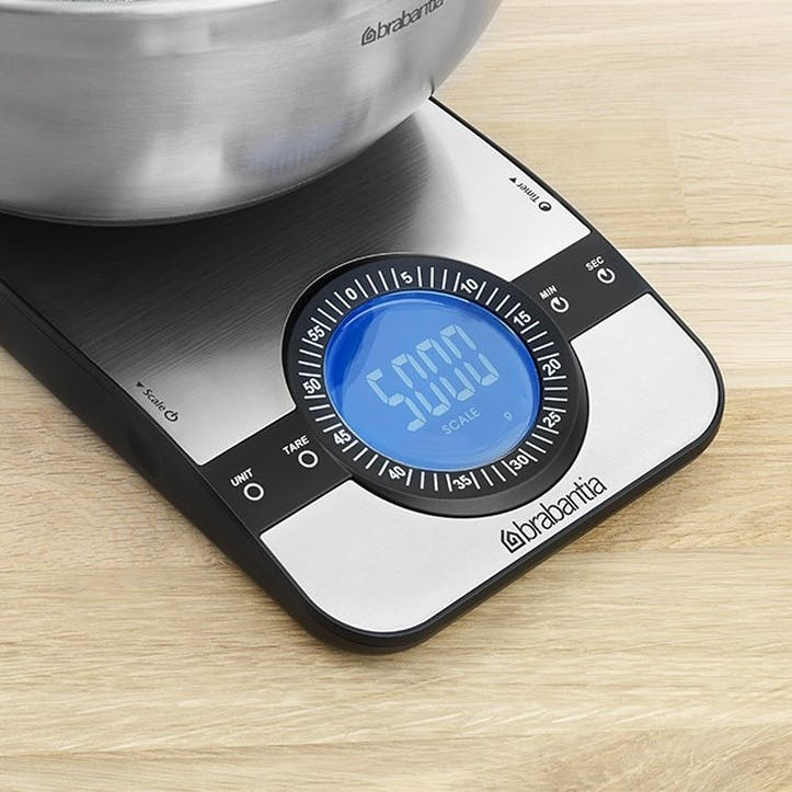 Rectangular Digital Kitchen Scales, Matt Steel