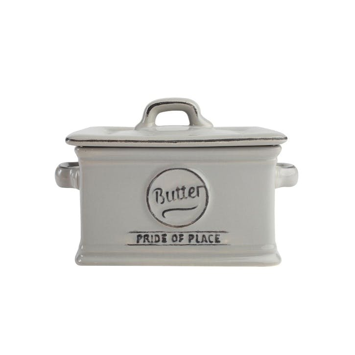 Pride of Place Butter Dish, Cool Grey