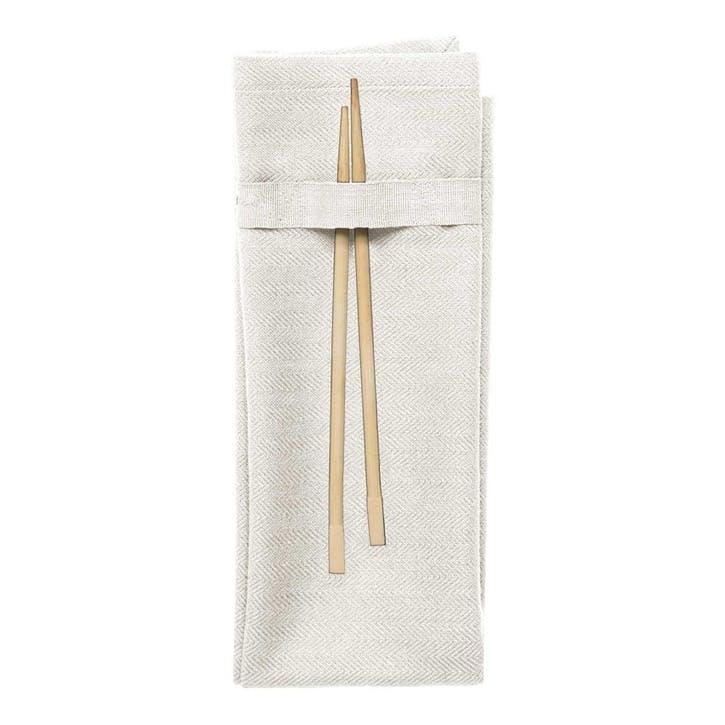 Herringbone Napkin, L50 x W40cm, Natural White