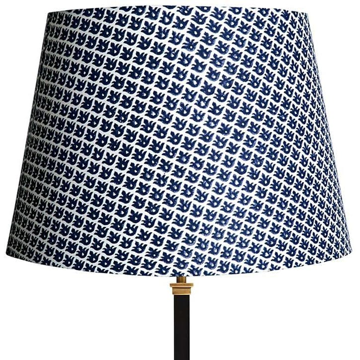 Straight Empire Lampshade, Temple Blue, 40cm