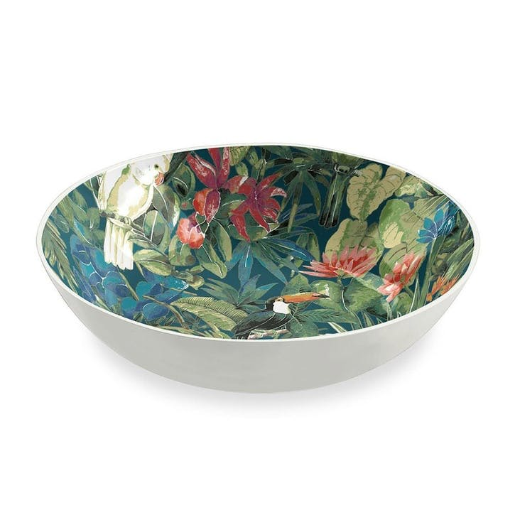 'Lush Jungle' Foliage Melamine Bowl, 23cm