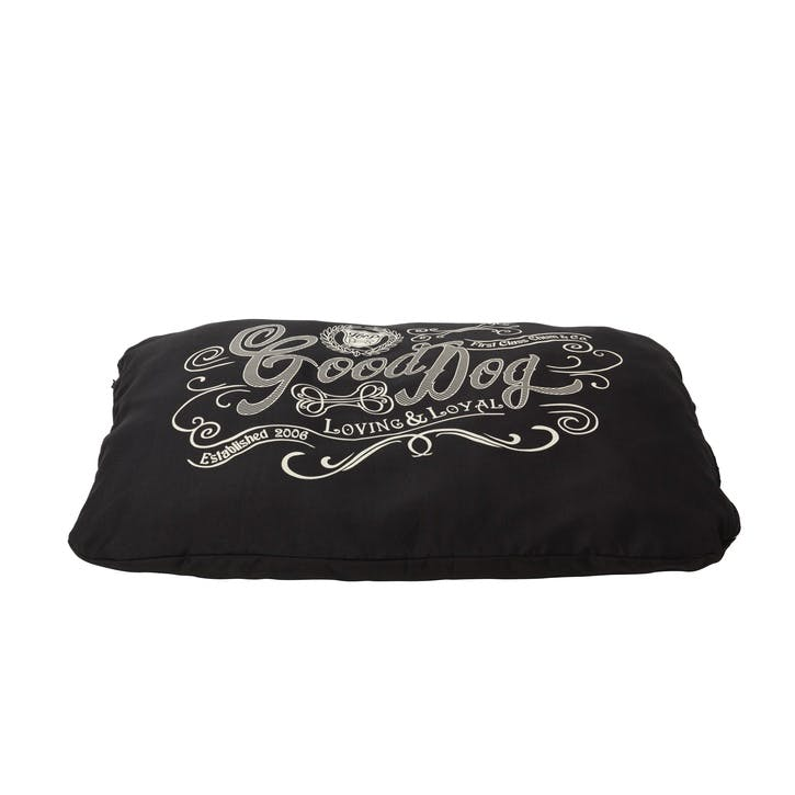 House Of Paws Good Dog Linen Cushion - Large/XL; Black