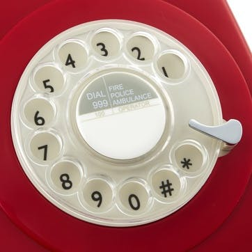 746 Rotary Telephone; Red