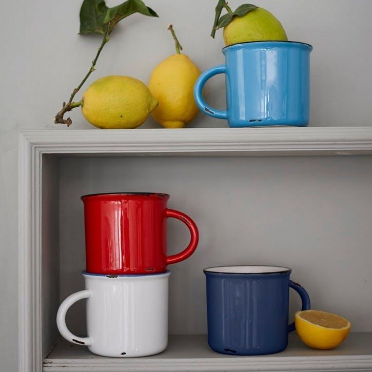 Tinware Mug, Summer, Set of 4