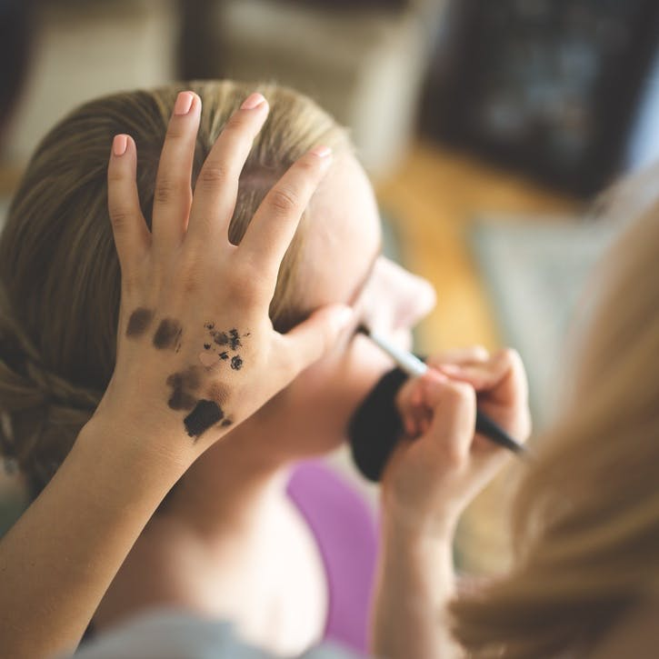 I promise to do the bride's make-up on the big day