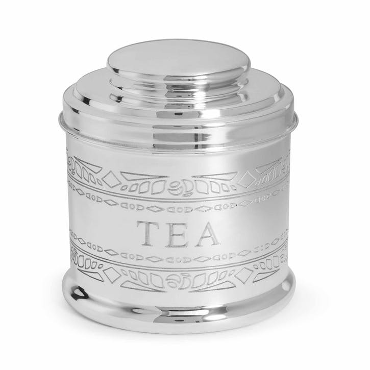 Audley Silver Tea Tin