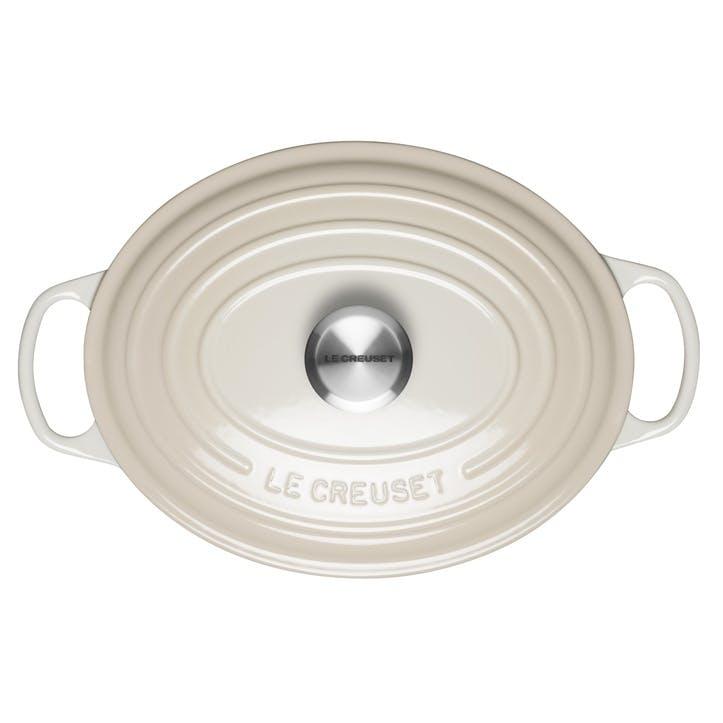 Signature Cast Iron Oval Casserole, 29cm, Meringue