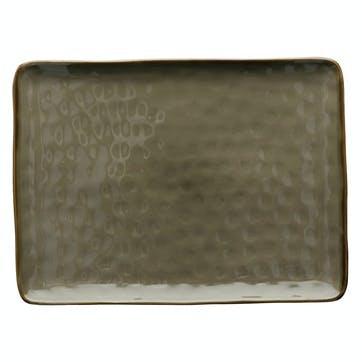 Concerto Serving Platter, Large, Grey