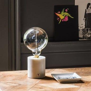 Alvin Round Marble Lamp Base