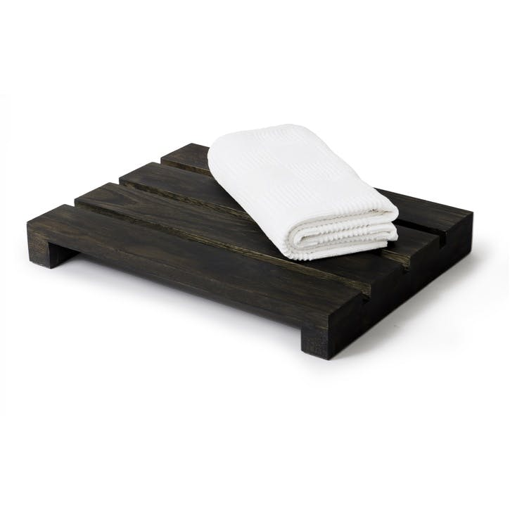 Apartment Duck Board Bath Mat, Dark Oak