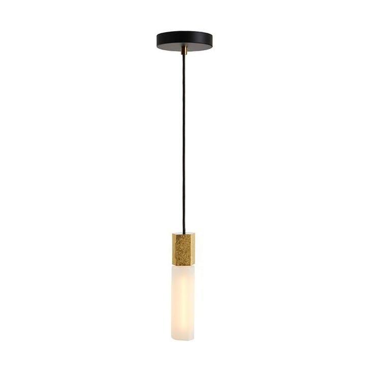 Basalt Single Pendant & Bulb L300 x D5cm Brass