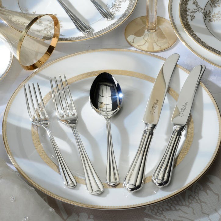 Royal Pearl Sovereign Silver Plated Cutlery Canteen Set - 84 Piece