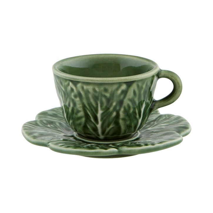 Cabbage Coffee Cups, Set Of 4, 150ml, Green