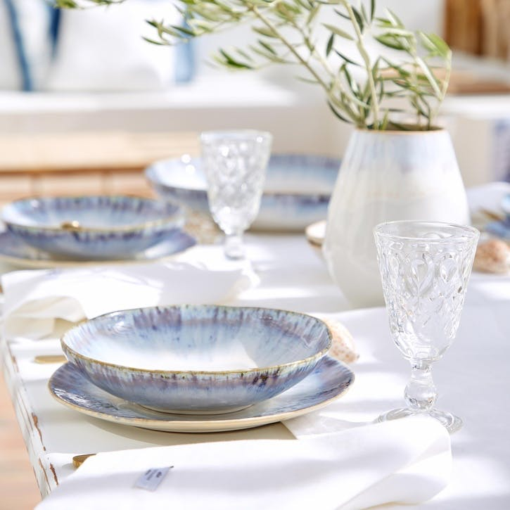 Brisa Blue Dinner Plates, Set of 6