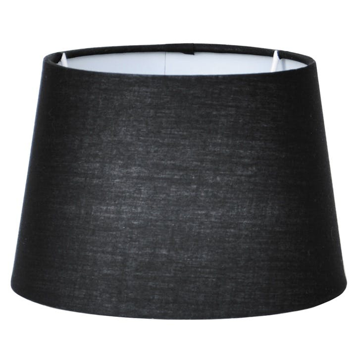 40cm Black Tapered Poly Cotton Shade