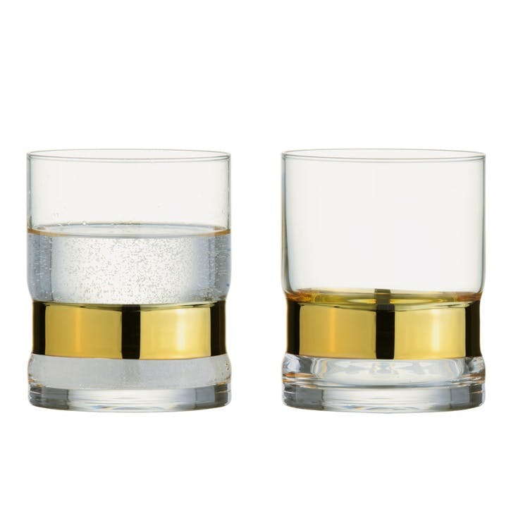 SoHo Gold Tumblers, Set of 2