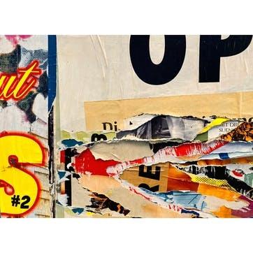 Torn Street Posters ChromaLuxe Metal Print, H51 x W76cm, Multi