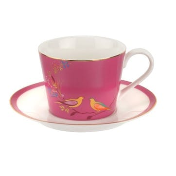 Chelsea Collection Tea Cup & Saucer; Pink