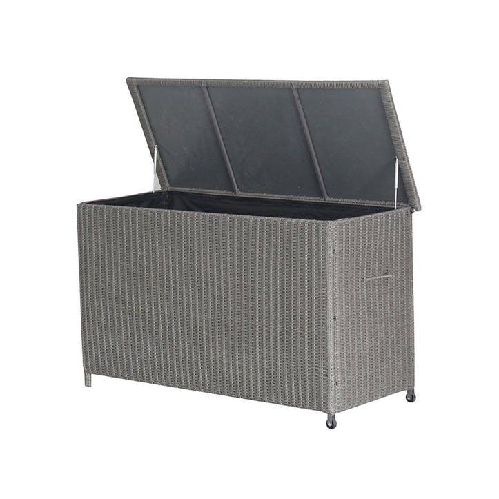 Barbados Cushion Box, Small, Slate Grey