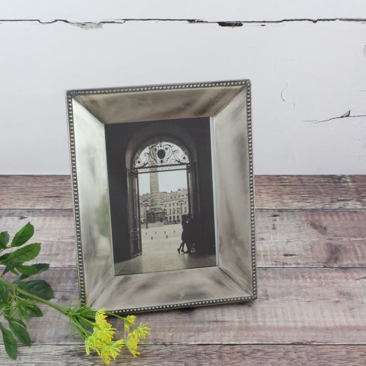 Beaded Silver Photo Frame - Large