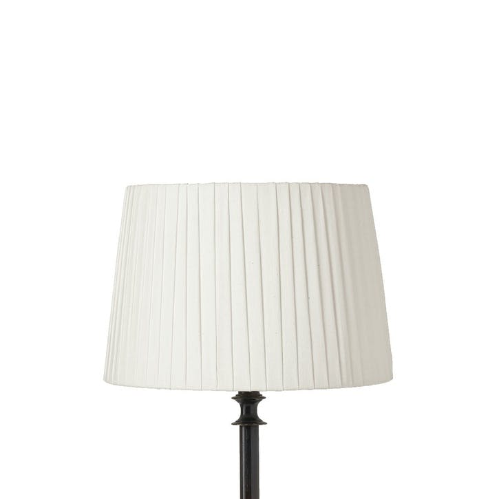 Pleated Linen Lampshade, 35cm, Off-White