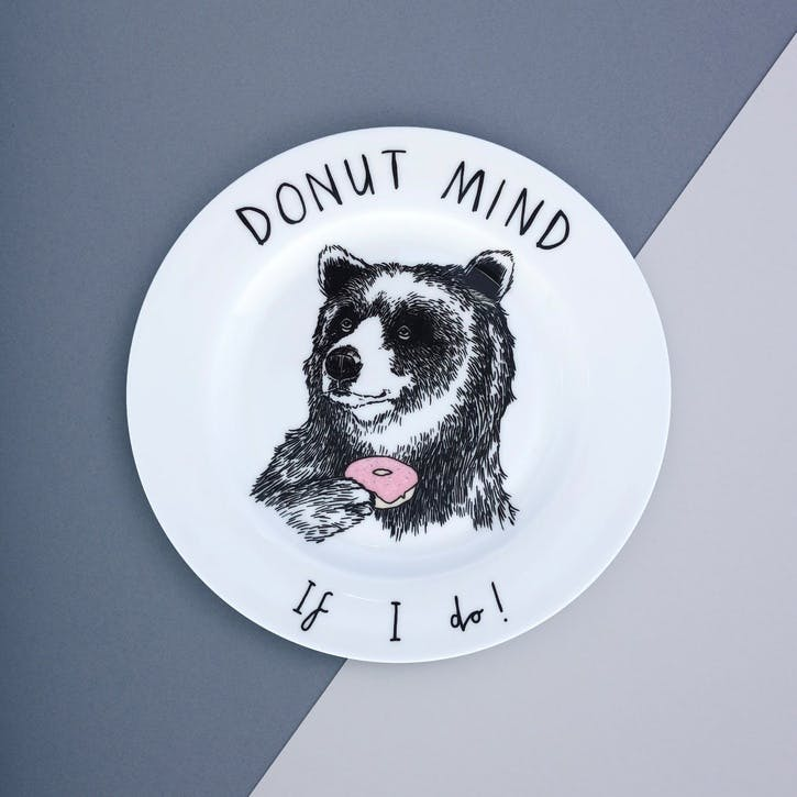 'Donut Mind If I Do' Side Plate