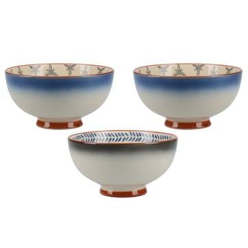 Drift Blue Ombre Small bowls, Set of 3