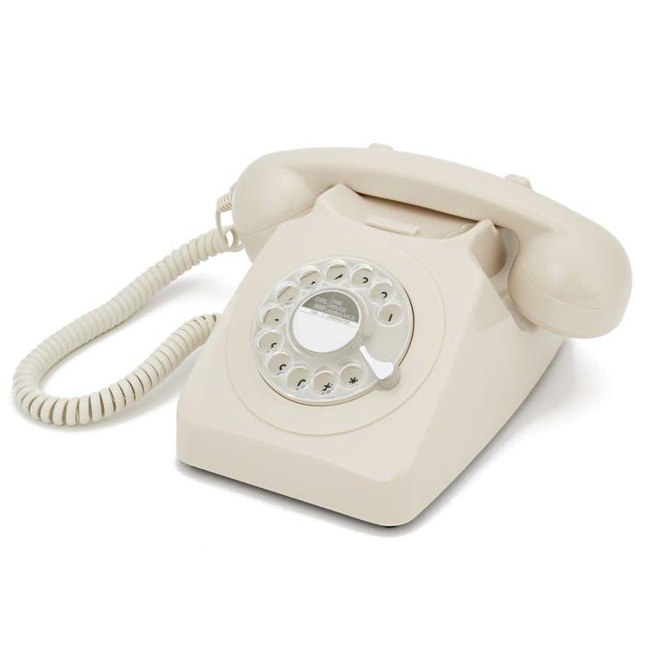 746 Rotary Telephone; Ivory