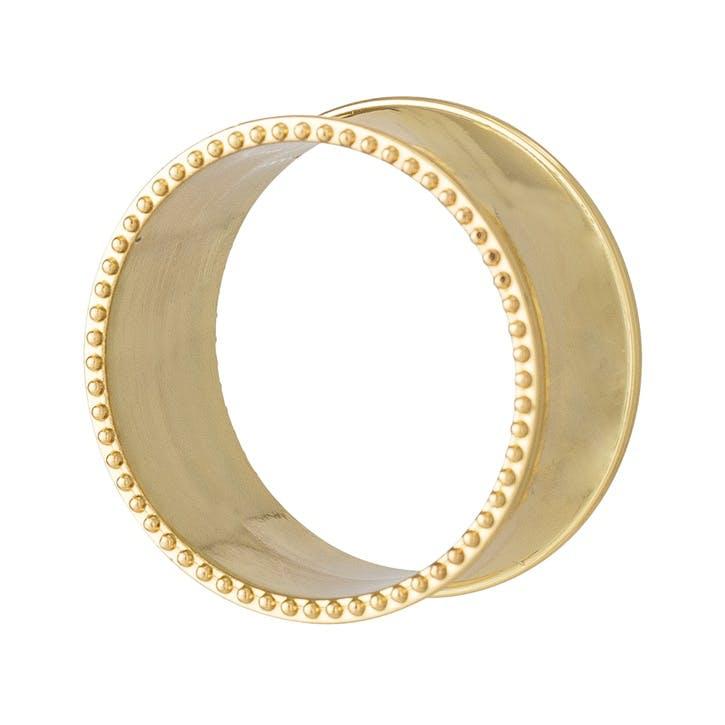 Beaded Edge Napkin Rings, Set of 4