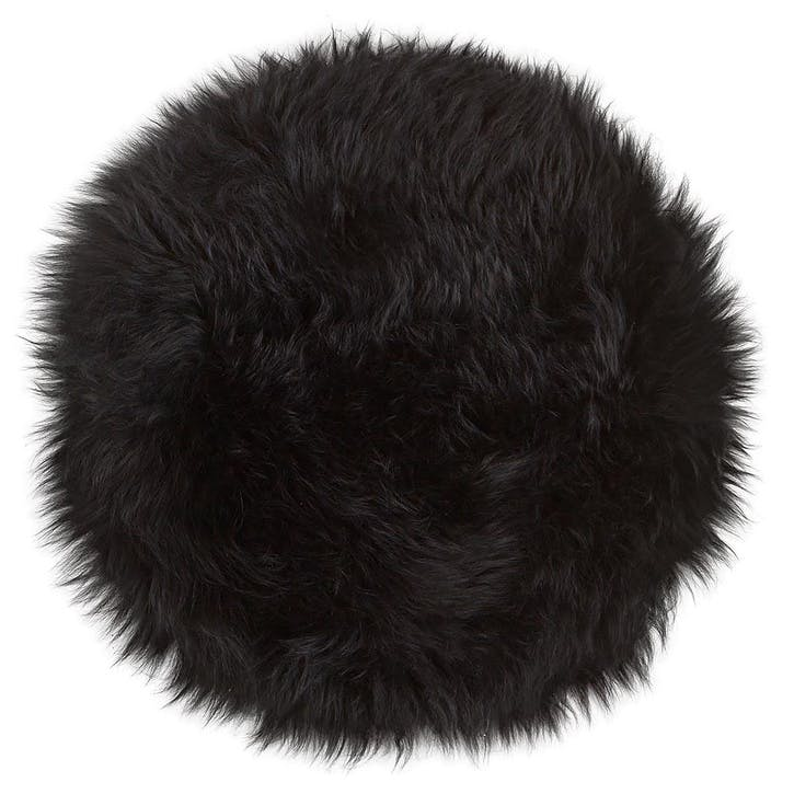 Moa Round Seat Cover, Black