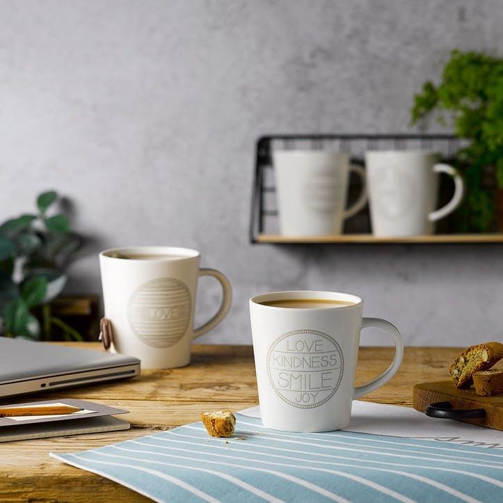 Set of 4 Mugs, Accent, 475ml