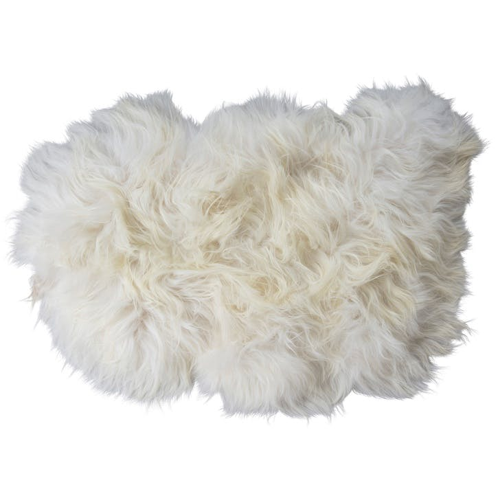 Torshavn Long-Haired Sheepskin, White
