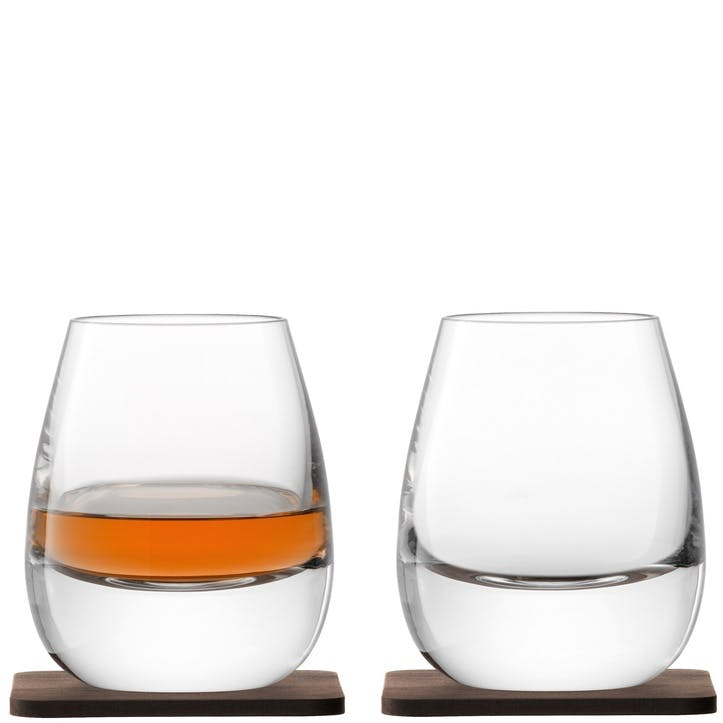 LSA Islay Tumbler & Walnut Coaster x 2
