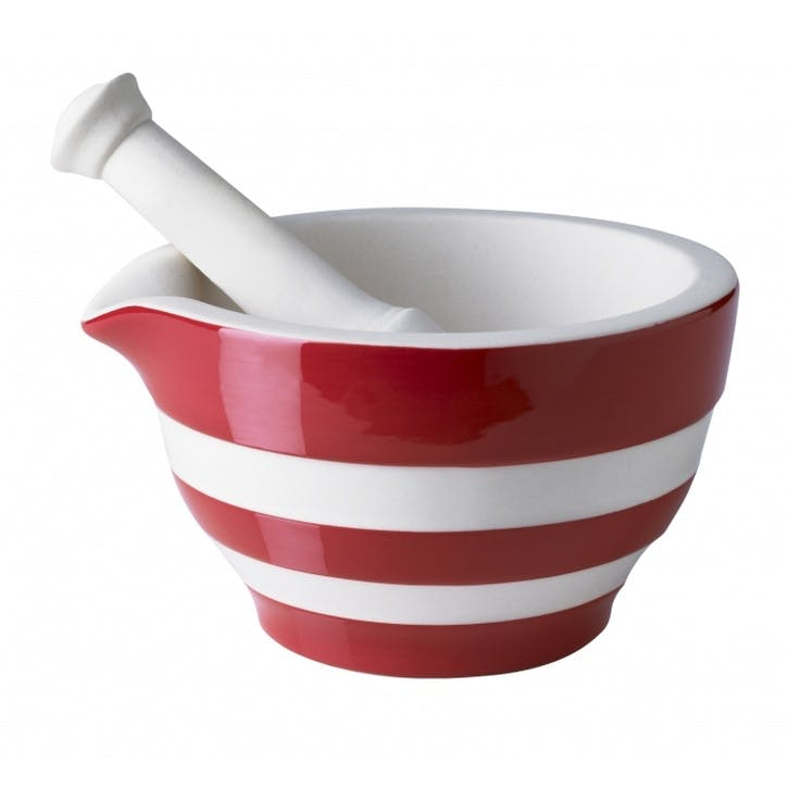 Mortar & Pestle, 15cm, Red