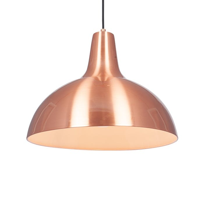 Alonzo Metal Pendant; Brushed Copper