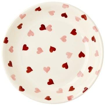 Pink Hearts Pasta Bowl, 23cm