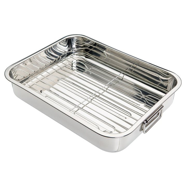 Stainless Steel Roasting Pan, 38cm x 27.5cm