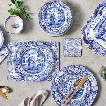 Blue Italian Plate, Set of 4 - 23cm