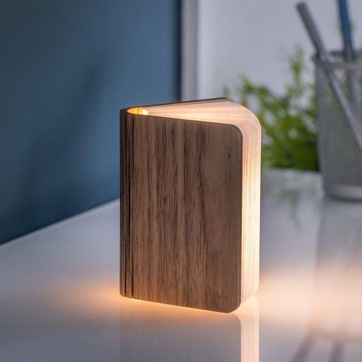 LED Smart Book Light, Mini, Walnut
