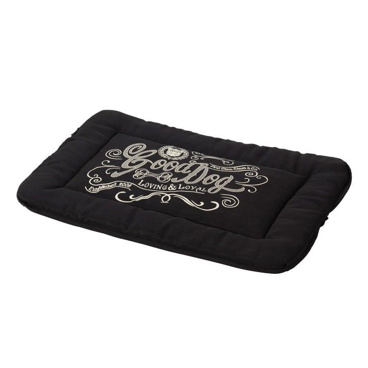House Of Paws Good Dog Linen Crate Mat - XL; Black