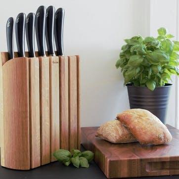 Signature Book Oak Knife Block Set, 7 Pieces