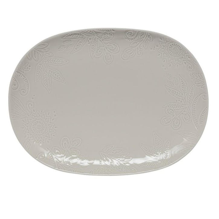 Gather Large Platter, Grey