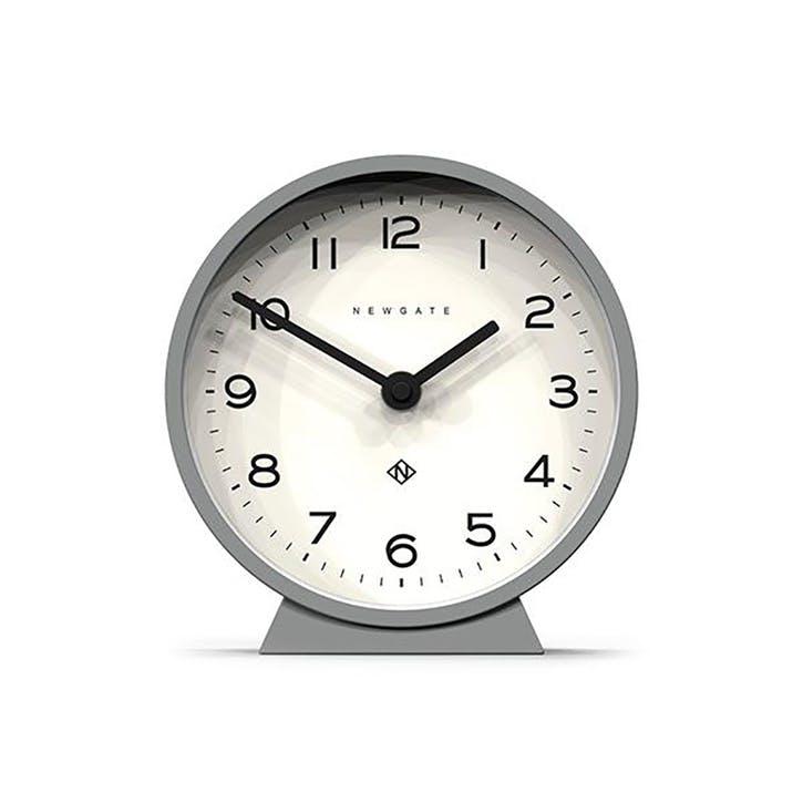 M Mantel Echo, Mantel Clock, W17cm x D6cm x H17cm, Grey